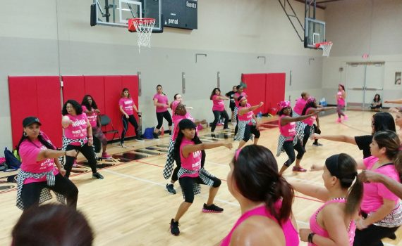 Zumba Class in the Gym