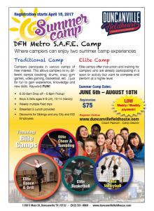 Summer Camp flyer English