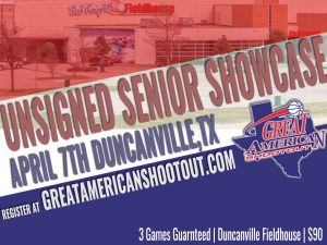 UNSIGNED SENIOR SHOWCASE, Saturday, April 7