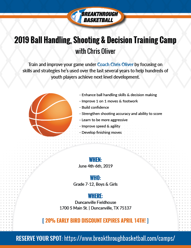 Breakthrough Basketball Ball Handling, Shooting & Decision